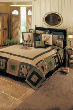 Lodge Podge Bedding, Quilts and Bath, Lodge Bedding, Quilt Sets Quilt Bedding, Bedding Sets, Comforter, Quilt Sets, Quilt Blocks, Colchas Country, Bedroom Sets, Bedroom Decor, Bedroom Furniture