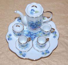 Miniature Vintage Tea Set by BeauTeaStudio on Etsy