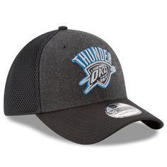 e18aee86511 Men s Oklahoma City Thunder New Era Heathered Black Black Neo 39THIRTY Flex  Hat - NBA