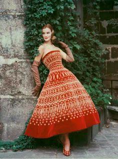 Dior velvet dress 1955