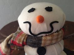 Snowman Decor Handmade of Cotton with a by eyepoppingcreations
