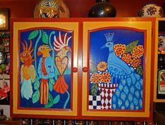Boho, handpainted kitchen cabinets
