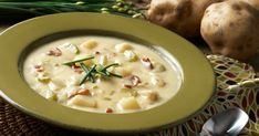 Dig up some fresh potatoes and try this slow cooker potato soup recipe today.data-pin-do= Irish Potato Soup, Potato Bacon Soup, Slow Cooker Potato Soup, Crock Pot Potatoes, Irish Potatoes, Ham Soup, Homestyle Potatoes, Crock Pot Recipes, Healthy Soup Recipes