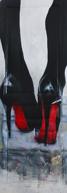 Louboutin oil on wood and spray paint on the door /face A by Henry Hang Paris - street art 3d Street Art, Graffiti Art, Christmas In Paris, Christmas Gifts, Winter Christmas, Oeuvre D'art, Urban Art, Christian Louboutin, Louboutin Shoes