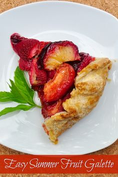 Summer Fruit Galette - a super simple recipe to use whatever summer fruits and berries are on hand in a quick dessert that's perfect with a scoop of creamy vanilla ice cream.