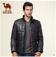 Camel men's new down jacket down jacket outer wear solid color casual short paragraph