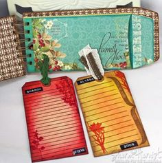 Bind It All projects - good tutorial for making envelopes and stamp distressing paper/envelopes.