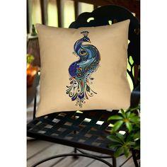 Thumbprintz Peacock Indoor/ Outdoor Decorative Throw Pillow - Overstock™ Shopping - Great Deals on Throw Pillows