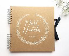 Media scrapbook de Kraft libro libro del bebé por TypeODesign