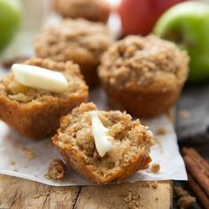 A secret ingredient makes these healthier muffins SUPER tender! NO butter (even in that topping) and other healthier swaps!