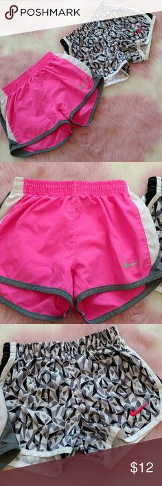Set of 2 Nike Shorts! Perfect condition Dri-Fit Nike shorts! Adorable! Nike Bottoms Shorts