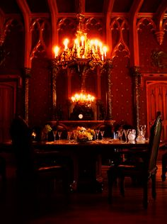 This is so beautiful! Love the gothic theme dining room. I feel like I'm in Addam's Family.