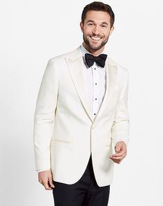 The Black Tux White Jacket Tuxedo Wedding Tuxedos + Suit photo Tuxedo Pants, Tuxedo Suit, Tuxedo For Men, Ivory Tuxedo, Black And White Tuxedo, Black Tie, Tuxedo Wedding, Wedding Suits, Wedding Tuxedos