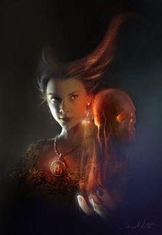 Ania Mitura DalisaAnja deviantart ilustrações fantasia sombria Game of Thrones - Melisandre