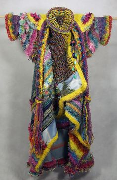 New at EGallery Shop:  Rainbow Coat Front View with Hooded Scarf from The Rainbow Coat  by Stephanie Blackford 2012  One of a Kind Wearable Art Coat  This item is currently on display at the Chemainus Theatre Gallery.  https://egalleryshop.com/artists/111-stephanie-blackford