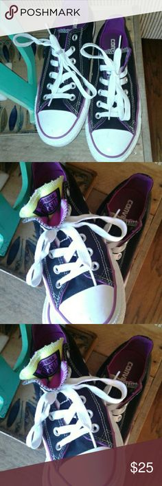 Cute Size 6y. Fits like Size 8 in women's . In good condition. Could be washed. Converse Shoes Sneakers
