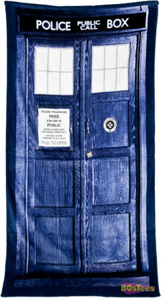 TARDIS towel. I can only justify buying practical Dr. Who merchandise (otherwise I'd buy all of it) and this is indeed practical!
