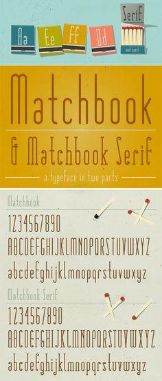 Free Font - Matchbook - 2 Type Faces (Serif + Sans Serif)