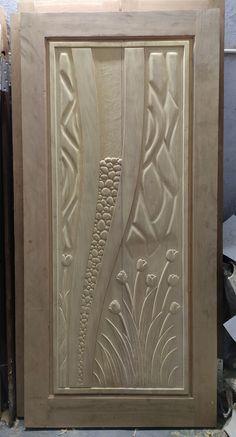 Single Door Design, Wooden Front Door Design, Wooden Front Doors, Best Door Designs, Kitchen Step Stool, Pillar Design, Door Design Interior, Wood Carving Designs, Acanthus