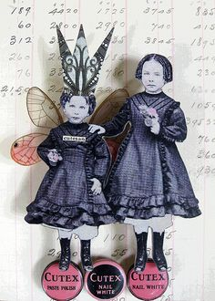 She was a real cutie Paper Collage Art, Paper Art, Mixed Media Art, Mixed Media Journal, Mix Media, Michelangelo, Paper Dolls, Art Dolls, Collages