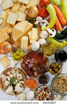 Food ingredients used in italian and other european cuisine