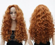 OneDor Long Hair Curly Wavy Full Head Wigs Cosplay Costume Party Hairpiece  Product Details:   Condition: Brand new with a tag   Length: 24 inches (1cm=0.39inch) without stretching. Stretched Length: 27 inches   Hair Type: Synthetic   Style: full head wig   Texture: Curly   Material: 100% High Quality Japanese Synthetic Fiber   Cap Size: comes with the elastic strap. This provides additional comfort, as well as confidence your wig won't fall out, or get blown away buy winds.   Produc..