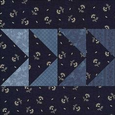 GAGGLE OF GEESE, 3″, Dark Today's Block This is an ancient pattern, and a favourite of 19th Century quilt-makers for their strippy quilts. Flying Geese Strippy Quilt Dated 1800-1849, Conneticut Rath