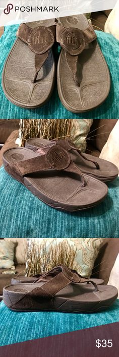 💟 FitFlop BROWN SANDALS Sz 9 FEATURES  •FitFlop •Sz  US 9  EU 41 •Color: Brown Fitflop Shoes Sandals