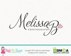 Melissa B Photography Premade Logo