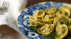 Pigeon or Dove Tortellini. Braised pigeon, squab or dove, ground into a rich ravioli filling and made into tortellini.