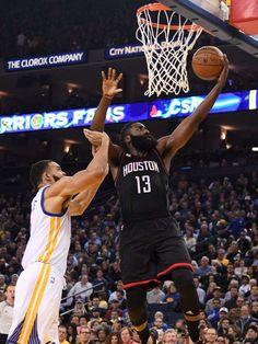 James Harden gets triple-double, Rockets snap Warriors' winning streak