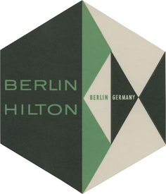Berlin Hilton, Berlin (107mm × 91mm) via David Pearson's Flickr — the most humble designer I've ever met, for the record.
