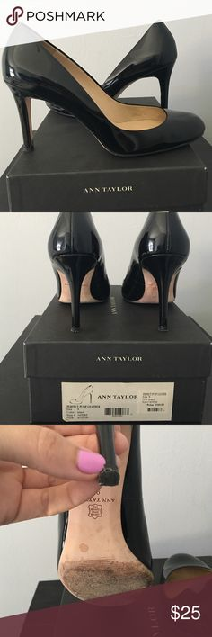 """Ann Taylor Perfect Pump These are indeed the perfect pump. At around 3 1/2"""" they are great for work and great for a night out. There is some wear to the sole of the shoe but not scuffs or scratches to the patent leather. Beautiful! Ann Taylor Shoes Heels"""