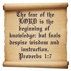 proverbs 1:7 - Google Search