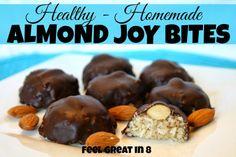 Healthy Homemade Almond Joy Bites - Feel Great in 8 YUM!!!