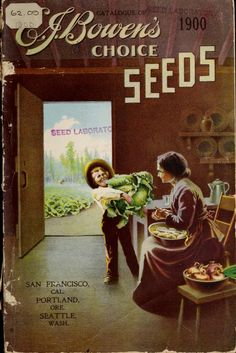 Bowen's Seeds, 1900   Vintage Seed Catalog