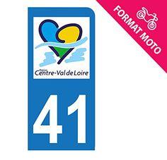 Autocollant Moto immatriculation 41 – Loir et Cher – Centre Val de Loire
