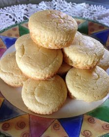 Kathryn's Low Carb Kitchen: ~ Low Carb Mock Cornbread Muffins. I like to add 1/8 cup cornmeal to this and  Cook in HOT cast iron skillet. 24 servings = 78 calories each. 5g carbs. 8g protein 14g fat.
