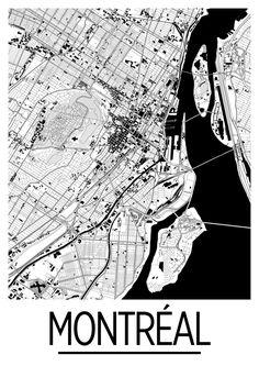 Montreal Map Poster canada Map Print Art Deco par iLikeMaps