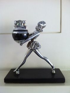 RONSON BALLERINA with BABY RONDELIGHT 1935 Art Deco lighter Extremely rare $800