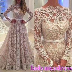 Cheap Prom Dresses Prom Dresses 2017 Long Sleeve Prom Dress,Lace Prom Dress,Fashion Bridal Dress,Sexy Party Dress,Custom Made Evening Dress Simple Prom Dress, Prom Dresses Long With Sleeves, A Line Prom Dresses, Long Wedding Dresses, Princess Wedding Dresses, Pageant Dresses, Cheap Wedding Dress, Sexy Dresses, Bridal Dresses