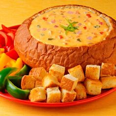 A cheesy dip recipe served in a sweet bread bowl with its sweet and smoky flavor coming from crushed pineapple and ham.    Velveeta® and Oscar Mayer® are registered trademarks of Kraft Foods, Inc. Ro*Tel® is a registered trademark of ConAgra Foods RDM, Inc.