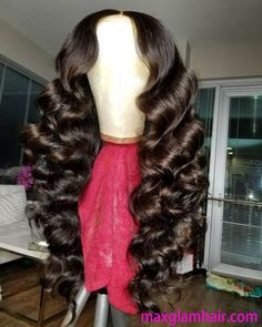 Beautiful long wavy wigs for black women lace front wigs human hair wigs long wavy hairstyles Curled Hairstyles, Weave Hairstyles, Frontal Hairstyles, Black Hairstyles, One Piece Hair Extensions, Voluminous Hair, Natural Hair Styles, Long Hair Styles, Hair Laid
