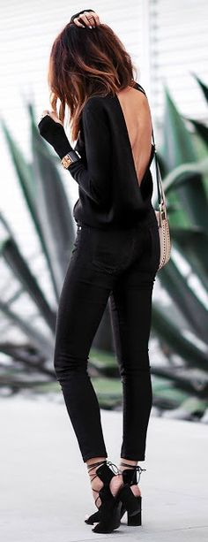 All black open back. Clothing, Shoes & Jewelry - Women - women's accessories - http://amzn.to/2kaFjns
