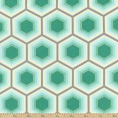 Bumble Honeycomb Cotton Fabric - Jade