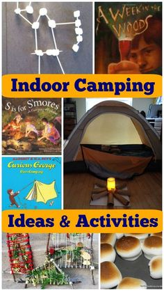 Indoor Camping Party: Ideas & Activities Great ideas for an indoor camping party or camp-out birthday party for kids! Perfect for a fun themed sleep-over too! How to set up indoor camping, great camping activities to do, how to make s'mores in the oven a Camping Activites For Kids, Summer Camp Activities, Fun Activities To Do, Indoor Activities For Kids, Camping With Kids, Family Camping, Preschool Camping Theme, Camping Theme Crafts, Classroom Camping Theme