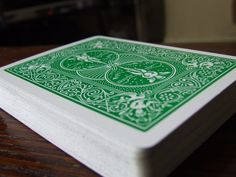 green playing cards | ... playing card accessories like poker chips green bicycle playing cards