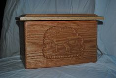 Hand made Wood Urn Box. Hand made Wood Urn Box with picture.