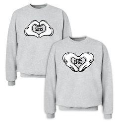 Love Hands Couple Sweatshirts