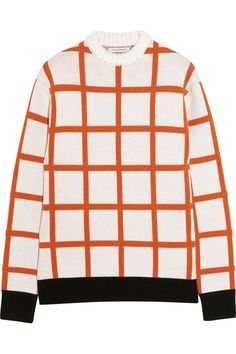 J.W.Anderson|Checked intarsia wool sweater|NET-A-PORTER.COM